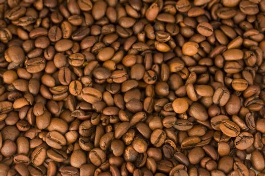 background of a lot of brown espresso beans