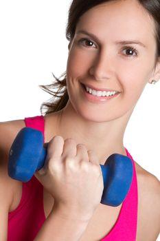 Beautiful smiling exercising woman
