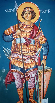 sain atanasie,fresco from macedonia