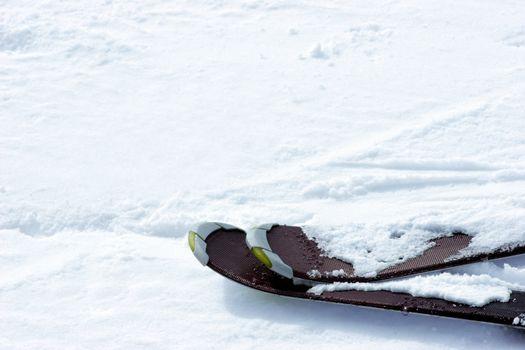 Skis on slope