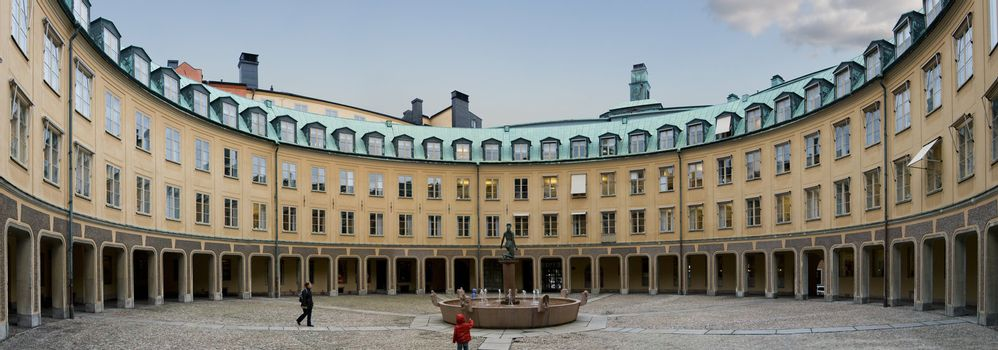 Courtyard in Stockholm