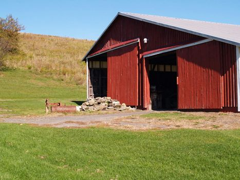 old red barn in the country