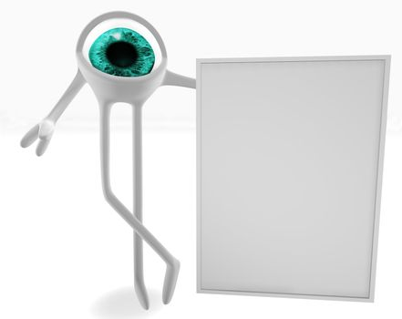 Eye with a signboard