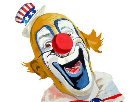 Smiling Uncle Sam Patriotic clown