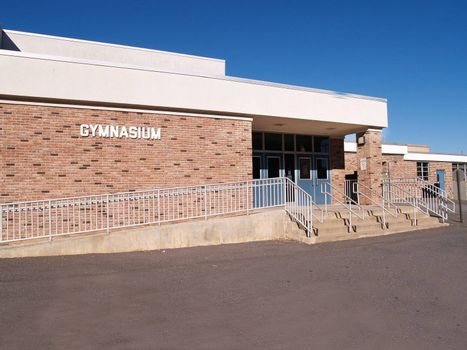 gymnasium entrance for an elementary school in New Jersey