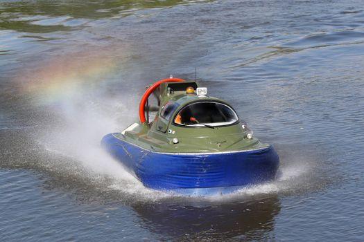 Boundary boat on an air cushion