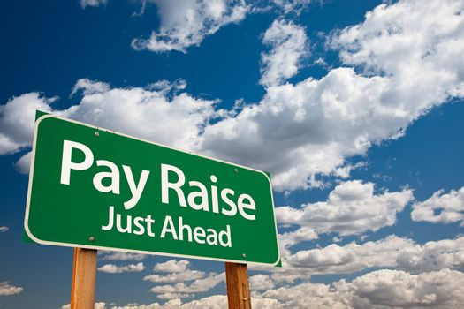 Pay Raise Green Road Sign