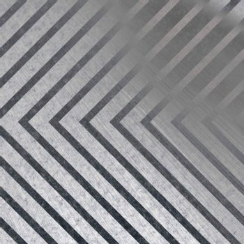 Hazard stripe brushed metal texture with reflective highlights.