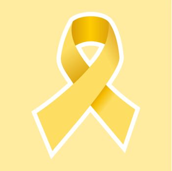 Aids hiv or Cancer symbol in gold