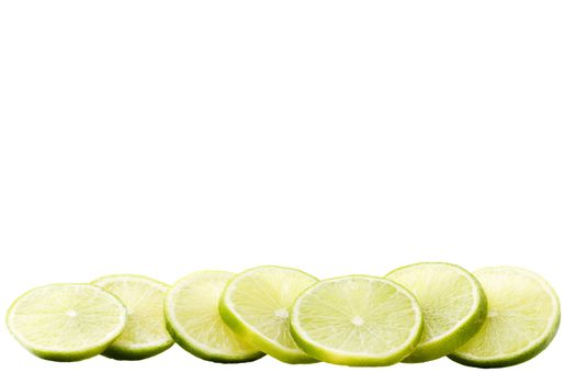 row of lime blades