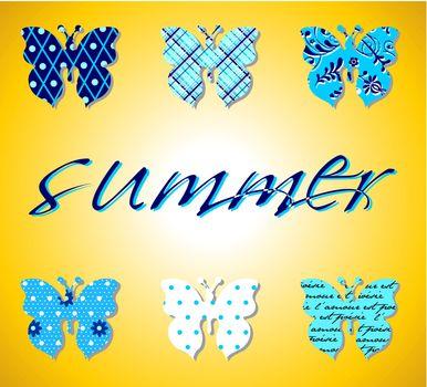 Butterflies summer pattern