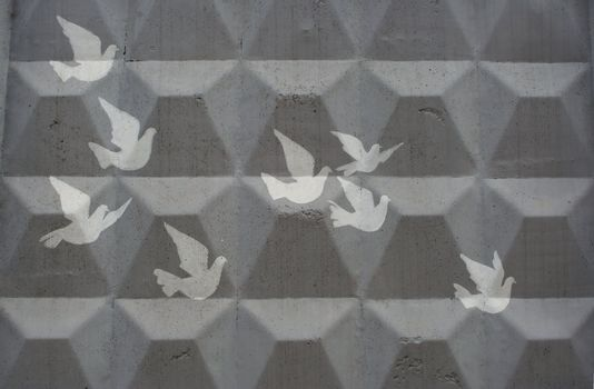 cliche drawing of doves
