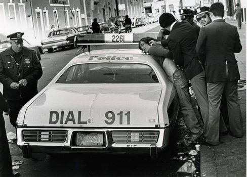 Young adult gets handcuffed by Boston, MA police in 1978