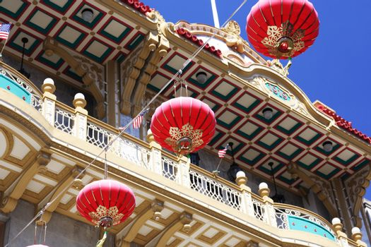 Chinese decorations in Chinatown, San Francisco