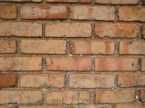 An aged and worn brick wall to be used for a background