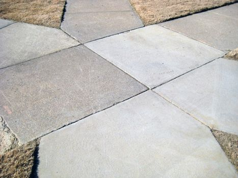 The connecting point of six different sidewalks