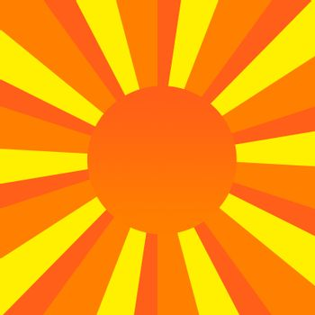 An orange, red, and yellow sunburst with a nice gradient