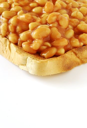 baked beans served on toast