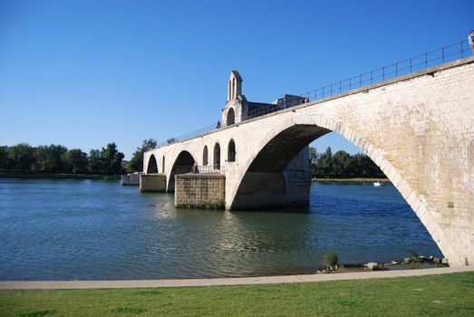 Bridge over Rhone river