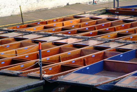 beaded boats of wood