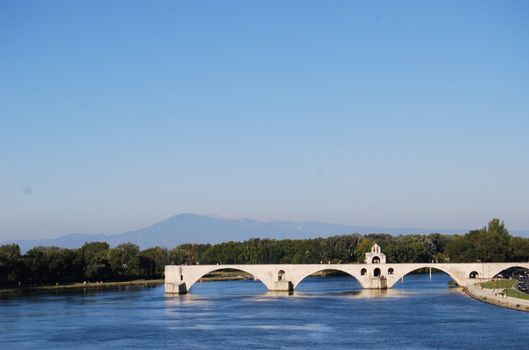 Pont d´Avignon, the famous bridge that once was the only conection between France and the Roman empire. Alsoo known as Pont St-Benzet.