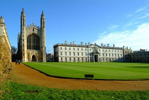 cambridge uni 1 with church and green lawn