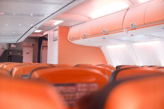 airplane cabine orange