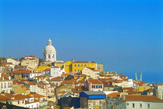panorama by blue sky