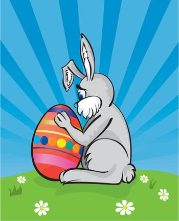 Vector illustration of a easter bunny