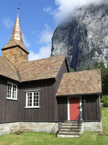Stave church in the Romsdal - Norway