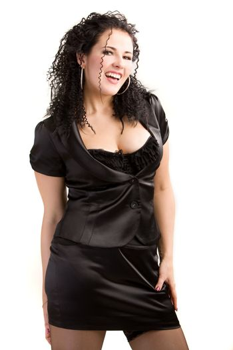 Portrait of a playful woman