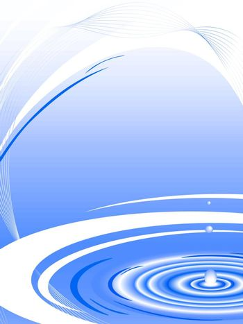 abstract water frame in blue with copyspace for your text