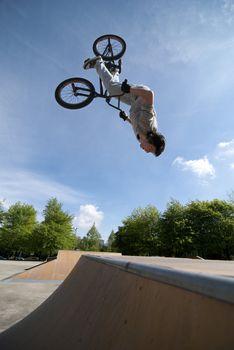 BMX Bike Stunt Back Flip