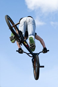 BMX Bike Stunt Aerial