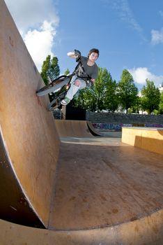 BMX Bike Stunt Wall Ride