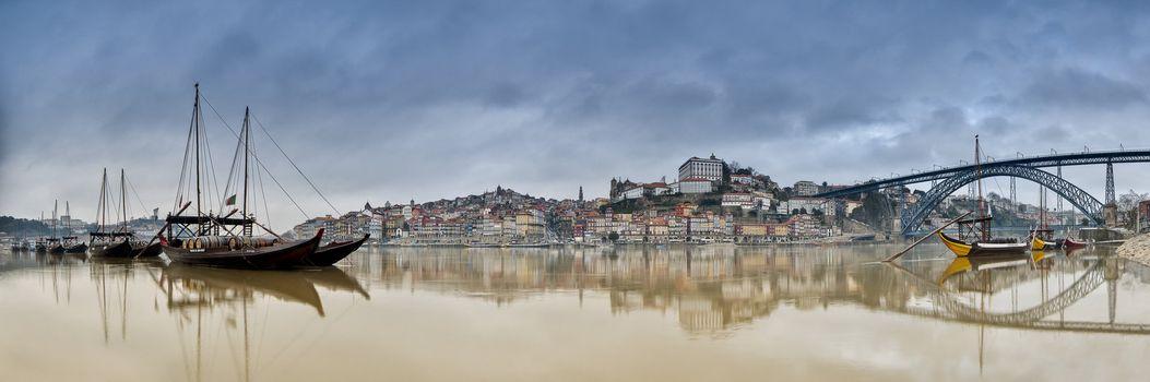 boats bridge cityscape nostalgia peaceful portugal