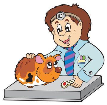Small rodent at veterinarian