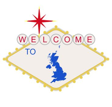 Welcome to England sign