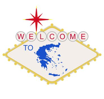 Welcome to Greece sign