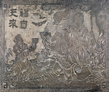Chinese religious stone carving