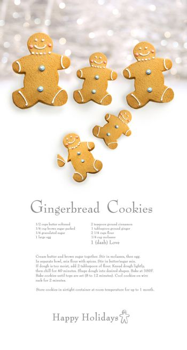 Gingerbread men cookies with recipe