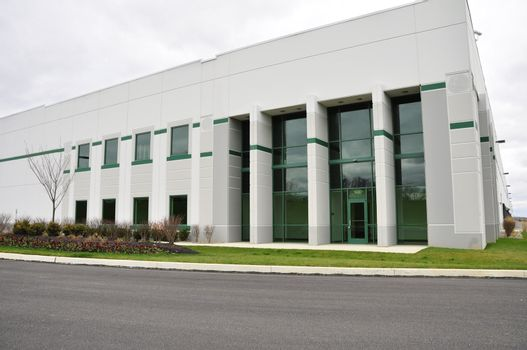 front entrance for a large industrial building