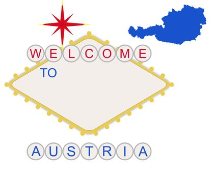 Welcome to Austria sign