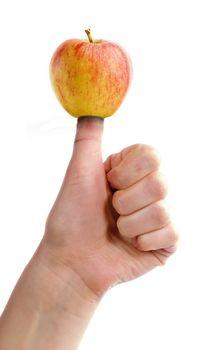 Thumb on Apple