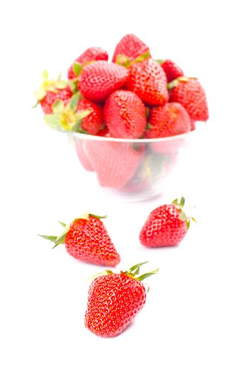 strawberries in the bowl