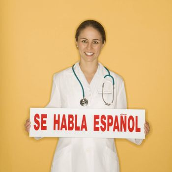 Doctor and Spanish sign.
