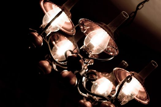 old-fashioned lamp