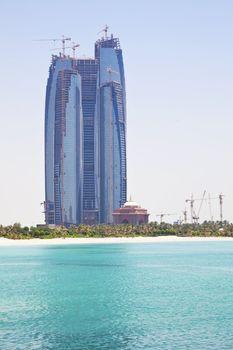 Buildings Under Construction, Abu Dhabi, UAE