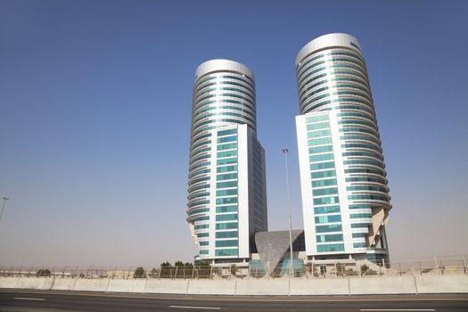 Modern Building in the Desert, Dubai, UAE