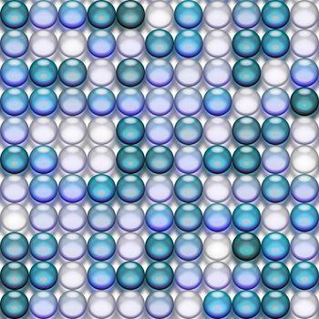 translucent blue marbles